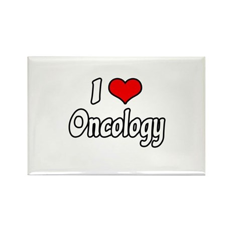 """I Love Oncology"" Rectangle Magnet"
