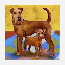 IRISH TERRIER DOGS Tile Coaster