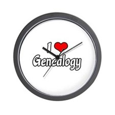 """I Love Genealogy"" Wall Clock"