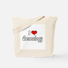 """I Love Genealogy"" Tote Bag"