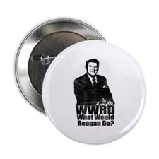 """WWRD? - What Would Reagan Do? 2.25"""" Button"""