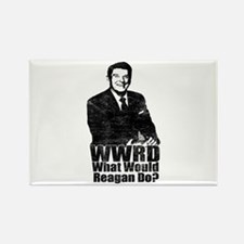 WWRD? - What Would Reagan Do? Rectangle Magnet