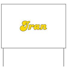 Retro Iran (Gold) Yard Sign