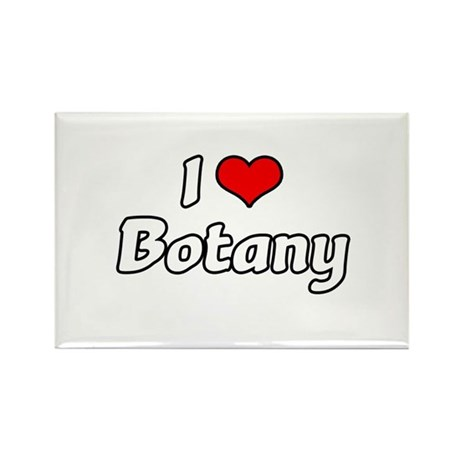 """I Love Botany"" Rectangle Magnet"