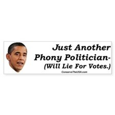 """Just a Phoney"" Bumper Bumper Sticker"