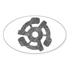 Vintage 45 RPM Oval Decal