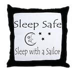 Sleep Safe - Sailor Throw Pillow