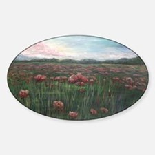 French Poppies Oval Decal