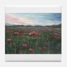 French Poppies Tile Coaster