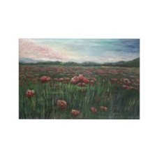 French Poppies Rectangle Magnet