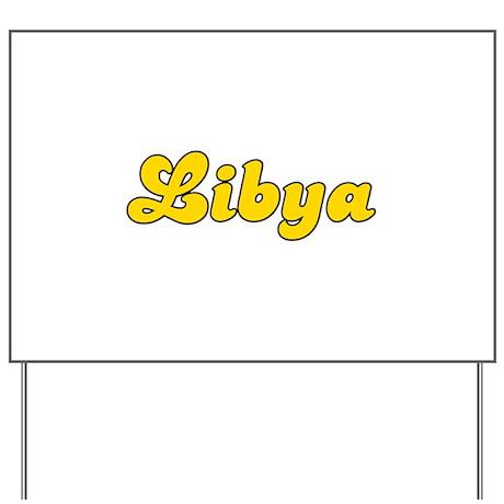 Retro Libya (Gold) Yard Sign