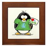 Love the Earth Penguin Framed Tile