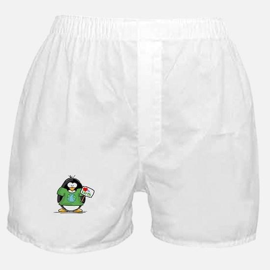 Love the Earth Penguin Boxer Shorts