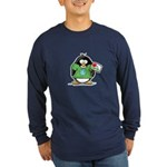 Love the Earth Penguin Long Sleeve Dark T-Shirt