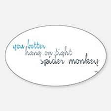 Spider Monkey Oval Decal
