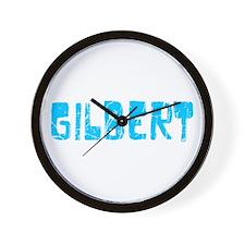 Gilbert Faded (Blue) Wall Clock