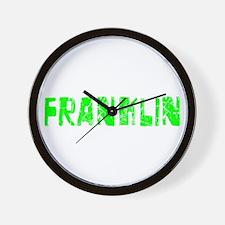 Franklin Faded (Green) Wall Clock