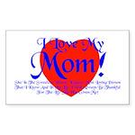 I Love Mom! Rectangle Sticker 50 pk)