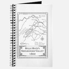 Belle Boyd' Map 1862 Journal