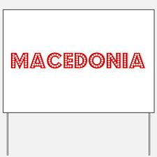Retro Macedonia (Red) Yard Sign