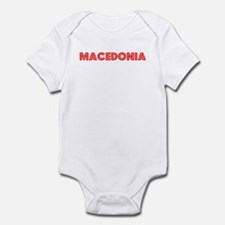 Retro Macedonia (Red) Infant Bodysuit