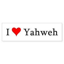 I Love Yahweh Bumper Bumper Sticker