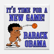 Obama Game Tile Coaster