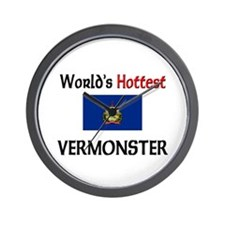 World's Hottest Vermonster Wall Clock