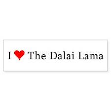 I Love The Dalai Lama Bumper Bumper Sticker