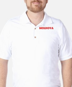 Retro Moldova (Red) Golf Shirt