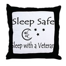 Sleep Safe Sleep with a Veteran Throw Pillow
