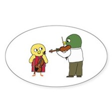 Violin Lesson Oval Decal