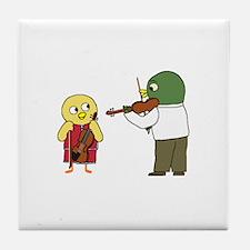 Violin Lesson Tile Coaster