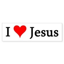 I Love Jesus Bumper Bumper Sticker