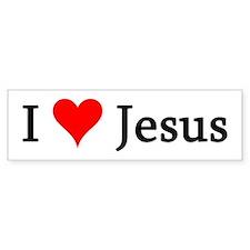 I Love Jesus Bumper Bumper Sticker