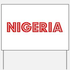 Retro Nigeria (Red) Yard Sign