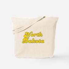 Retro North Dakota (Gold) Tote Bag