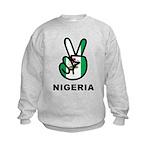 Nigeria Peace Kids Sweatshirt