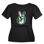Nigeria Peace Women's Plus Size Scoop Neck Dark T-