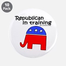 """Republican in Training 3.5"""" Button (10 pack)"""