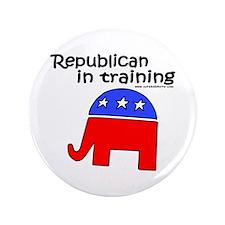 "Republican in Training 3.5"" Button"