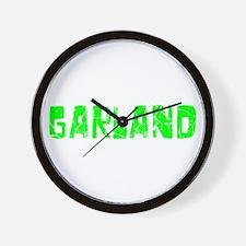Garland Faded (Green) Wall Clock