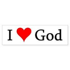 I Love God Bumper Bumper Sticker