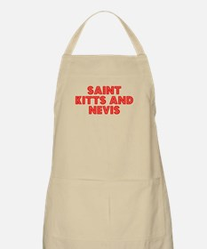 Retro Saint Kitts .. (Red) BBQ Apron