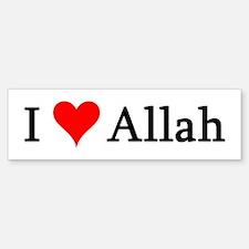 I Love Allah Bumper Bumper Bumper Sticker