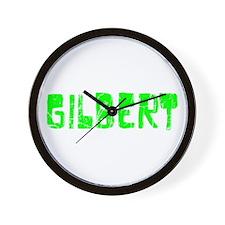 Gilbert Faded (Green) Wall Clock
