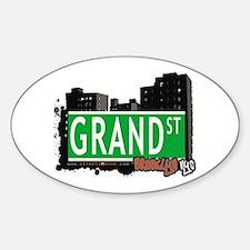 GRAND ST, BROOKLYN, NYC Oval Decal