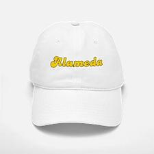 Retro Alameda (Gold) Baseball Baseball Cap