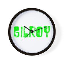 Gilroy Faded (Green) Wall Clock