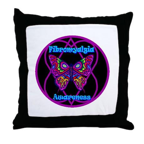 Fibromyalgia Mod Hope-a-gram Throw Pillow